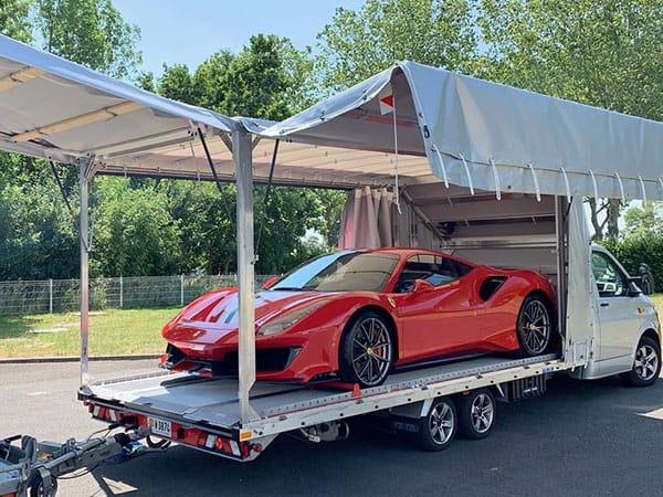 Transport de véhicules de luxe France et Europe
